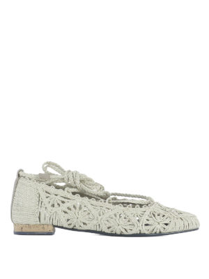 Paloma Barcelò: flat shoes - Provence woven rope ballerinas