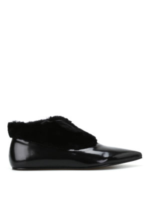 Paloma Barcelò: flat shoes - Salome Flat patent leather shoes