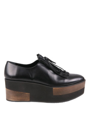 Paloma Barcelò: lace-ups shoes - Connectiv Wood wedge lace-ups