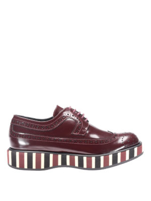 Paloma Barcelò: lace-ups shoes - Lena striped sole Derby brogues