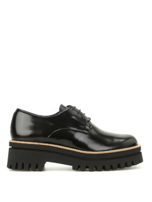 Paloma Barcelò: lace-ups shoes - Niger Sunshine polished Derby shoes