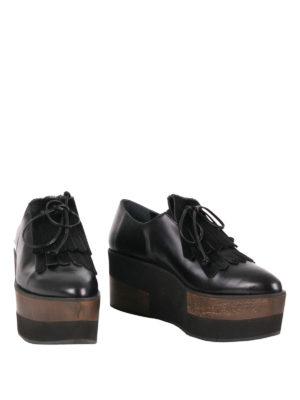 Paloma Barcelò: lace-ups shoes online - Connectiv Wood wedge lace-ups