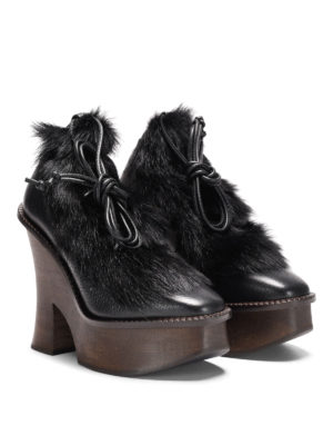 Paloma Barcelò: lace-ups shoes online - Grenada leather and fur shoes