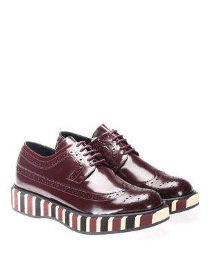 Paloma Barcelò: lace-ups shoes online - Lena striped sole Derby brogues