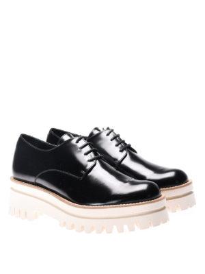 Paloma Barcelò: lace-ups shoes online - Niger maxi sole leather lace-ups