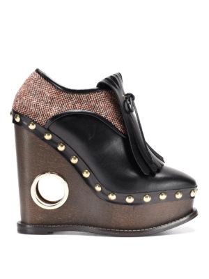 Paloma Barcelò: lace-ups shoes - Orense wedged lace-ups