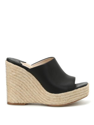 Paloma Barcelò: mules shoes - Clare leather wedges