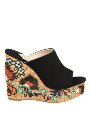 Paloma Barcelò: mules shoes - Heliconia embellished cork mules