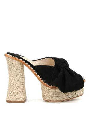 Paloma Barcelò: mules shoes - Monaco bow detail suede mules