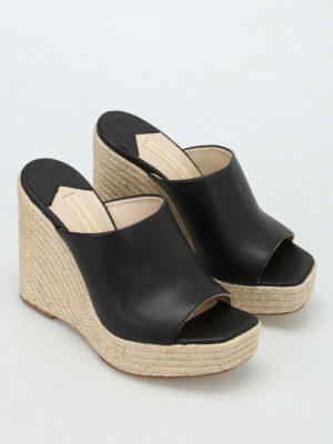 Paloma Barcelò: mules shoes online - Clare leather wedges