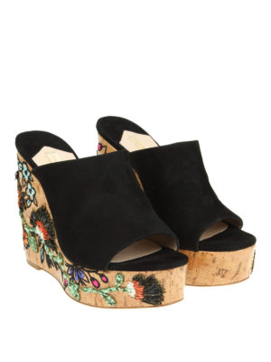 Paloma Barcelò: mules shoes online - Heliconia embellished cork mules