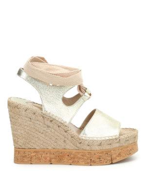 Paloma Barcelò: sandals - Brunet metal cork wedge sandals