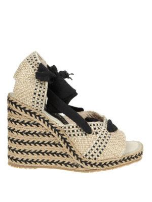 Paloma Barcelò: sandals - Cagiga braided jute wedge sandals
