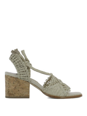 Paloma Barcelò: sandals - Cely woven rope sandals