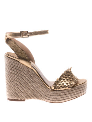 Paloma Barcelò: sandals - Melissa woven leather wedges