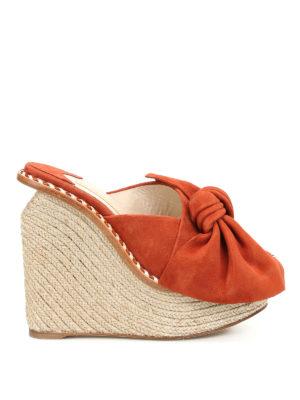Paloma Barcelò: sandals - Monfort suede wedge sandals