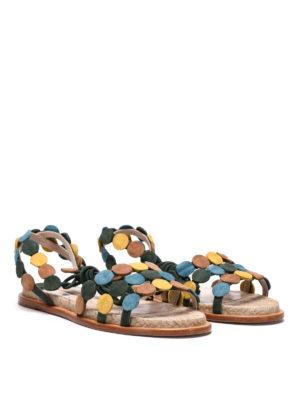 Paloma Barcelò: sandals online - Antibe suede sandals