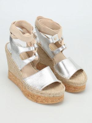 Paloma Barcelò: sandals online - Brunet metal cork wedge sandals