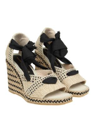 Paloma Barcelò: sandals online - Cagiga braided jute wedge sandals