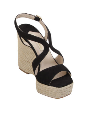 Paloma Barcelò: sandals online - Fedry jute wedge sandals
