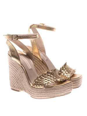 Paloma Barcelò: sandals online - Melissa woven leather wedges