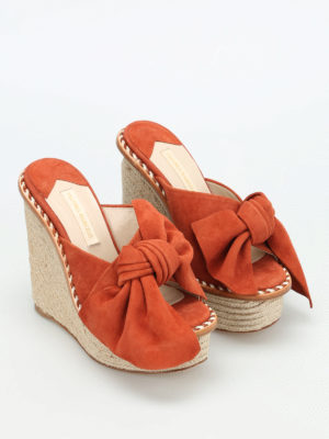 Paloma Barcelò: sandals online - Monfort suede wedge sandals
