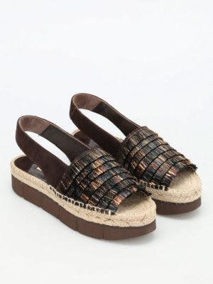 Paloma Barcelò: sandals online - Patricia raffia and suede sandals