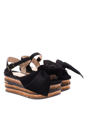 Paloma Barcelò: sandals online - Rosa black sandals with bow