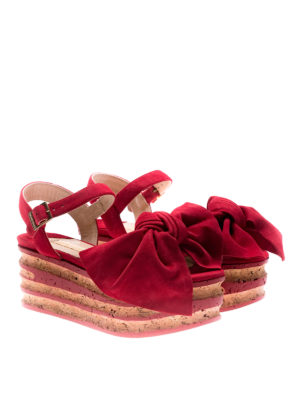 Paloma Barcelò: sandals online - Rosa red sandals with bow