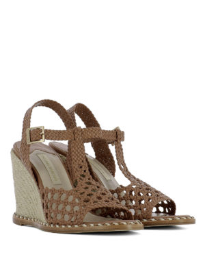 Paloma Barcelò: sandals online - Woven leather wedge sandals