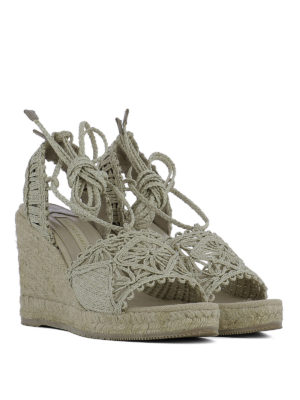 Paloma Barcelò: sandals online - Woven rope wedge sandals