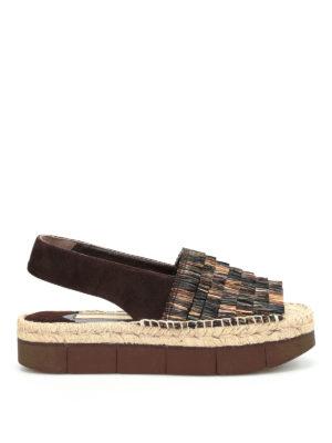 Paloma Barcelò: sandals - Patricia raffia and suede sandals