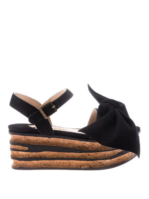 Paloma Barcelò: sandals - Rosa black sandals with bow