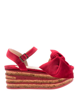 Paloma Barcelò: sandals - Rosa red sandals with bow