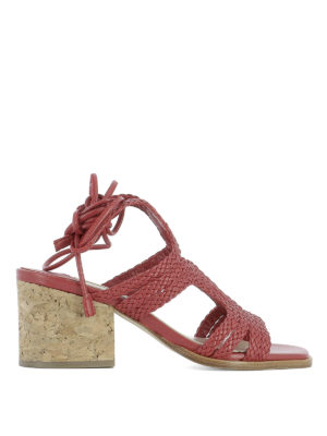 Paloma Barcelò: sandals - Sigale woven leather sandals