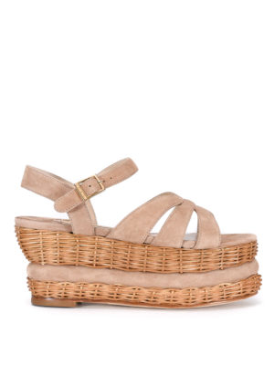 Paloma Barcelò: sandals - Vallouise wicker wedge sandals