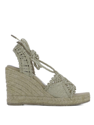 Paloma Barcelò: sandals - Woven rope wedge sandals