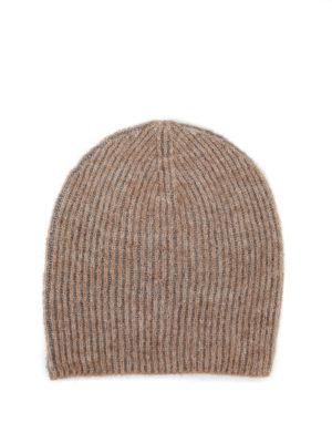 Paolo Fiorillo: berretti - Cappello beige con intreccio in lurex
