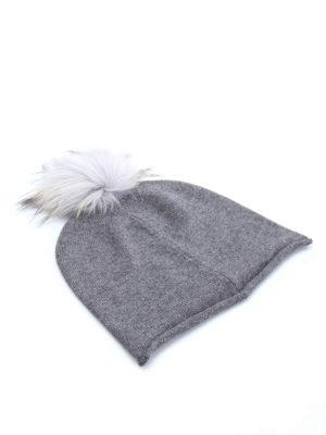 Paolo Fiorillo Capri: beanies - Fur pompom beanie