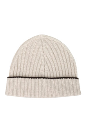 Paolo Fiorillo Capri: beanies online - Ribbed cashmere beanie