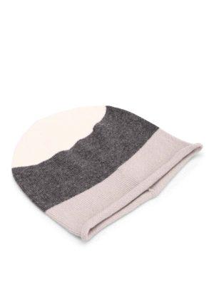 Paolo Fiorillo Capri: beanies - Striped merino wool beanie