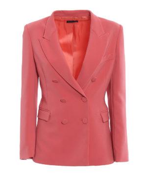 Paolo Fiorillo Capri: blazers - Crepe cady double-breasted blazer