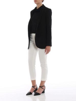 Paolo Fiorillo Capri: blazers online - Black crepe cady open front blazer