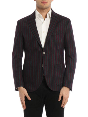 Paolo Fiorillo Capri: blazers online - Striped wool unstructured blazer