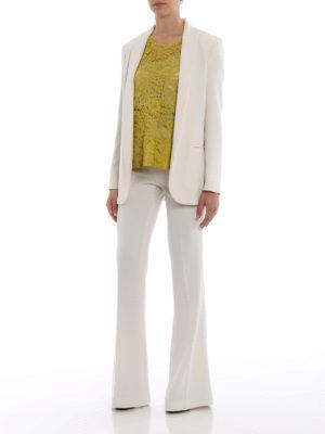 Paolo Fiorillo Capri: blazers online - White crepe cady open front blazer