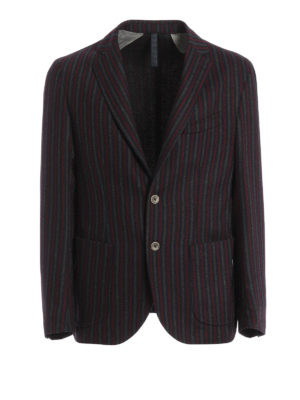 Paolo Fiorillo Capri: blazers - Striped wool unstructured blazer