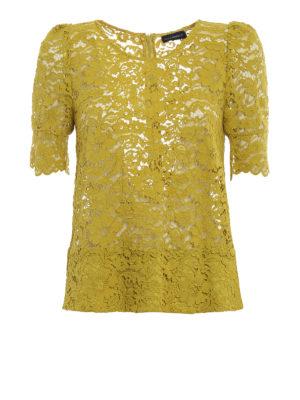 Paolo Fiorillo Capri: blouses - Lime lace blouse