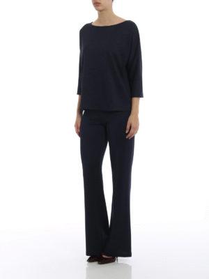 Paolo Fiorillo Capri: blouses online - Shimmering blue boxy blouse