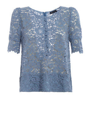 Paolo Fiorillo Capri: blouses - Powder blue lace blouse