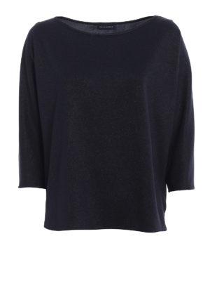 Paolo Fiorillo Capri: blouses - Shimmering blue boxy blouse